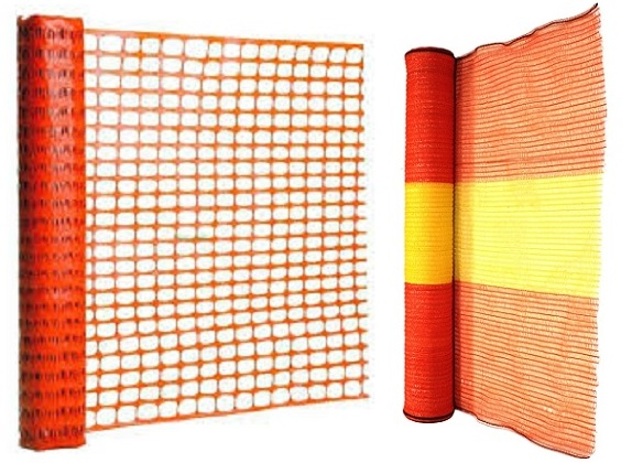 Orange and Yellow Safety Netting