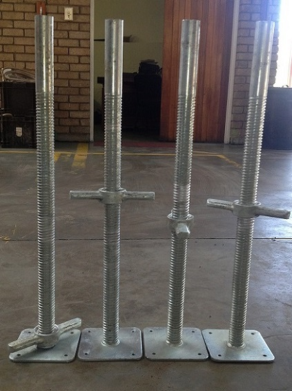 Base jacks, formwork, scaffolding accessories